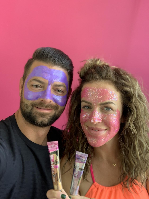 Tara and BRaun in masks