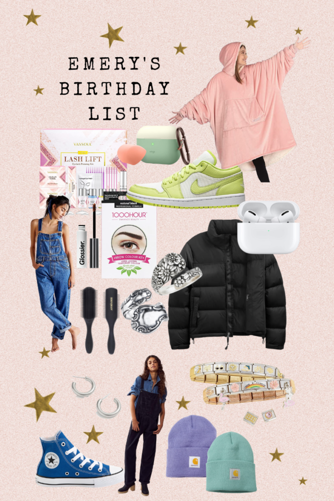 Emery's Birthday List